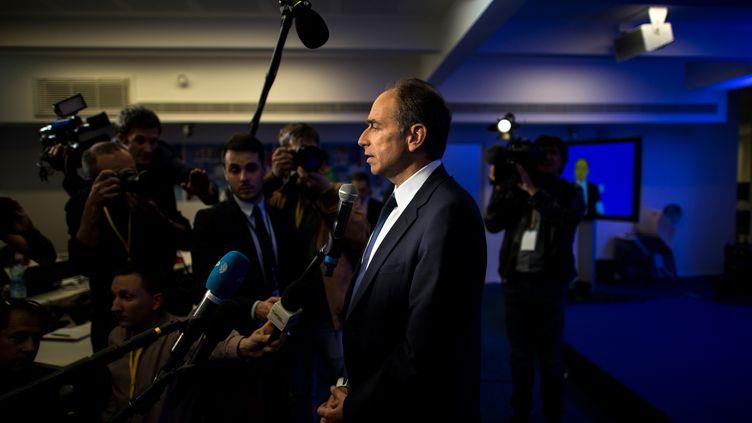 Le président de l'UMP, Jean-François Copé, dimanche 25 mai 2014, à Paris. (FRED DUFOUR / AFP)