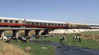 Un train a déraillé près de Homs, en direction de Damas. Les autorités accusent des saboteurs (23/07/11) (AFP / Louai Beshara)