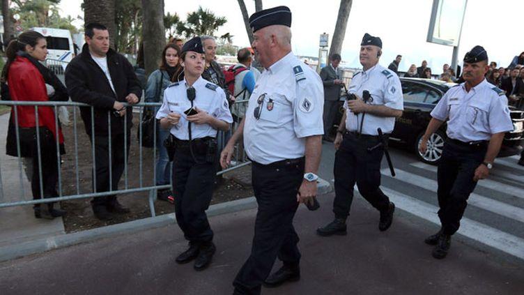 (De nombreux policiers ont été déployés pour assurer la sécurité pendant le Festival de Cannes © MaxPPP)