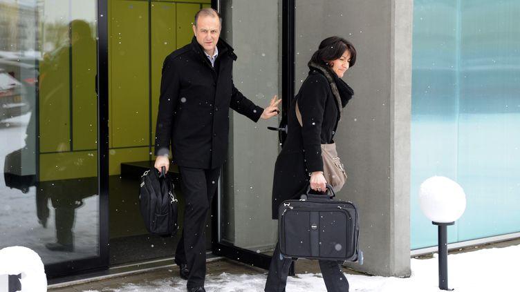 Les inspecteurs de la DGCCRF étaient lundi 11 février 2013 à Metz (Moselle), au siège de la Comigel, le sous-traitant de Findus qui aurait fabriquer les produits suspects. (JEAN CHRISTOPHE VERHAEGEN / AFP)
