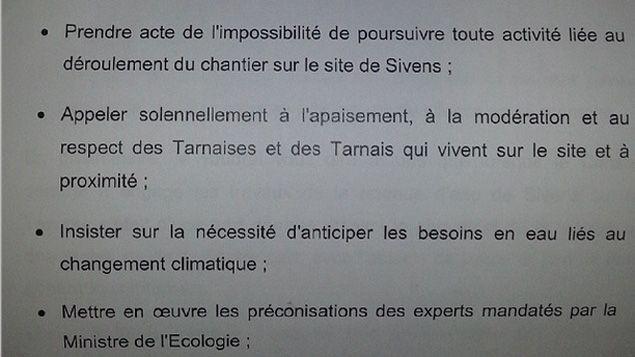 (Les grandes lignes du discours de Thierry Carcenac © RF/ Antoine Giniaux)