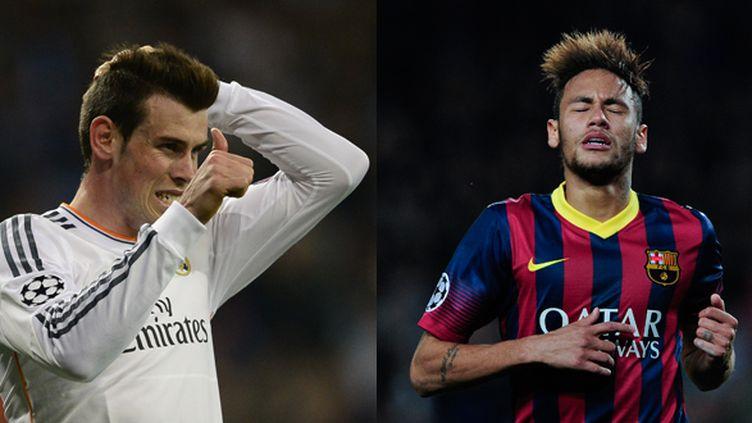 Gareth Bale (à gauche) et Neymar (à droite) s'affrontent ce dimanche dans un clasico dont l'issue sera décisive pour le titre.