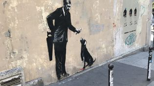 Une oeuvre de Banksi, à Paris (RADIO FRANCE / STEPHANIE BERLU / PIERRICK BONNO)