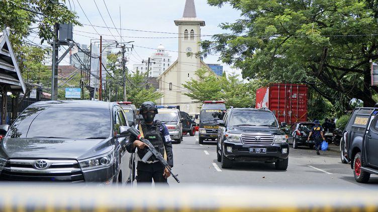 Un attentat-suicide a été mené contre une église deMakassar, en Indonésie, le 28 mars 2021. (DAENG MANSUR / AP)