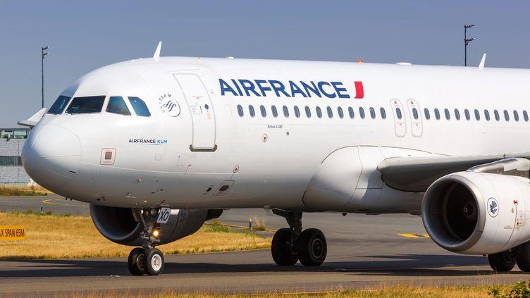 Un avion de la compagnie Air France, le 16 août 2018. (MARKUS MAINKA / PICTURE ALLIANCE)