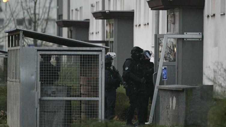 Des membres du RAID à Strasbourg le 13 décembre 2018. (SEBASTIEN BOZON / AFP)