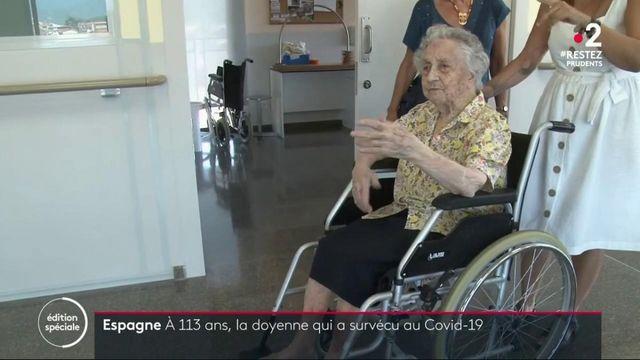 Coronavirus : la doyenne de l'Espagne âgée de 113 ans a survécu au virus