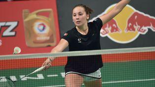 Delphine Lansac a réussi ses premiers pas aux Mondiaux de badminton (ADEK BERRY / AFP)