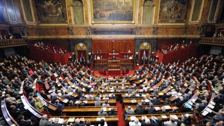 Nicolas Sarkozy s'exprimant devant le Congrès réuni à Versailles le 22 juin 2009 (AFP - ERIC FEFERBERG)
