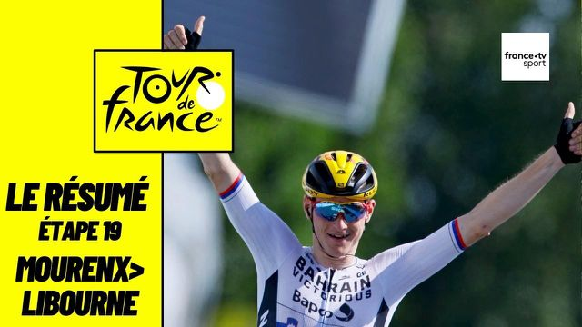 Matej Mohoric remporte sa deuxième étape sur ce Tour de France après le final au Creusot. Christophe Laporte et Casper Pedersen complètent le podium. Pourtant destinée aux sprinteurs, cette 19e étape a vu un homme en solitaire s'imposer. Le peloton a laissé partir un groupe 20 coureurs après une centaine de kilomètres duquel le Slovène s'est échappé à 25 km du terme. Au général, aucun changement dans le top 10.