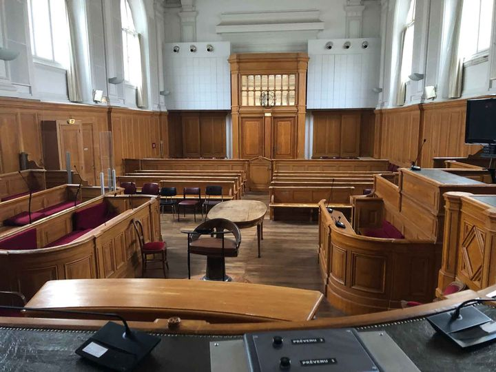 La cour d'assises de Charente-Maritime à Saintes, où doit être jugé Joël Le Scouarnec. (MARGAUX STIVE / RADIO FRANCE)