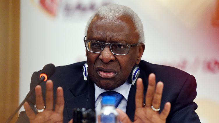 Lamine Diack, l'ancien patron de l'athlétisme mondial. (GREG BAKER / AFP)