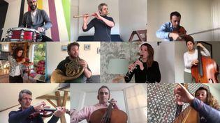 Les musiciens n'ont pas joué en direct, ils ont envoyé chacun leur vidéo et elles ont ensuite été agrégées. (FRANCE MUSIQUE / RADIO FRANCE)