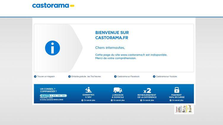 Capture d'écran du site internet de Castorama, victime d'un acte de malveillance le 8 juin 2016. (castorama)