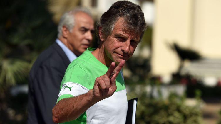 L'entraîneur de l'Algérie Christian Gourcuff (FAROUK BATICHE / AFP)