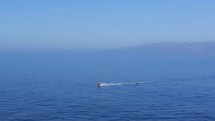 Un jet-ski sur la mer Méditerrannée, en août 2015. (BERTRAND BECHARD / MAXPPP)