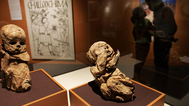Momies de la civilisation des Chachapoyas, exposées au musée de Lima, au Pérou (7 janvier 2007)  (Eitan Abramovich / AFP)