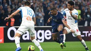 Kylian Mbappé lors du Classique OM-PSG, le 24 octobre, au stade Vélodrome. (CHRISTOPHE SIMON / AFP)