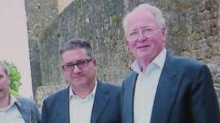 Capture d'écran d'un reportage de France 2 montrant une photo d'André Adam (à droite). (FRANCE 2)