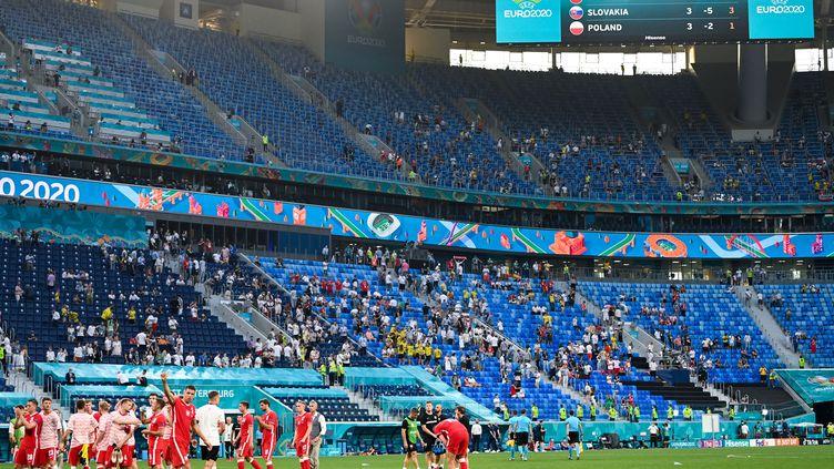 Le stade Krestovski de Saint-Pétersbourg avant le match entre la Suède et la Pologne, le 23 juin (KIRILL KUDRYAVTSEV / POOL)