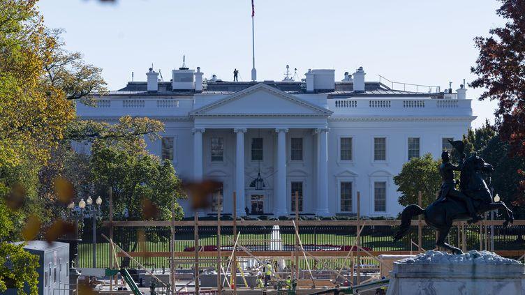La Maison Blanche, le 8 novembre 2020, à Washington (Etats-Unis). (MOSTAFA BASSIM ADLY / ANADOLU AGENCY / AFP)