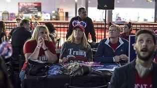 Les partisans de Donald Trump dans l'incertitude à Austin (Texas), le 3 novembre 2020. (SERGIO FLORES / AFP)