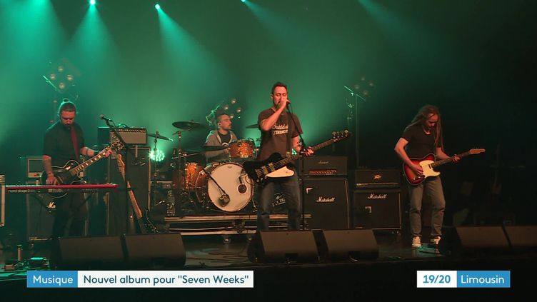 Le groupe Seven Weeksen concert (France 3 Nouvelle Aquitaine)