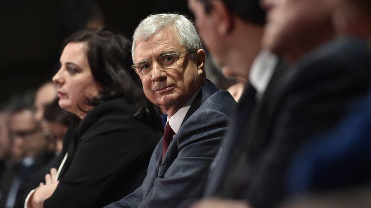La tête de liste PS aux élections régionales en Ile-de-France, Claude Bartolone, le 9 décembre2015 à Paris lors d'un meeting de campagne. (LOIC VENANCE / AFP)