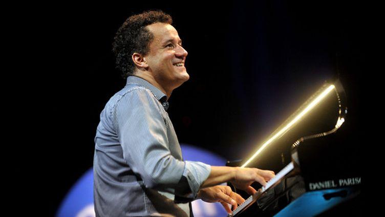 Jacky Terrasson le 2 août 2013 à Jazz in Marciac  (Michel Viala / PhotoPQR / La Dépêche du Midi / MaxPPP)