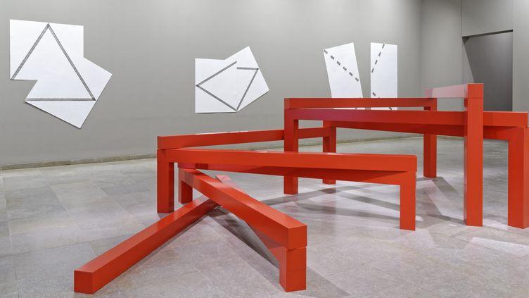 """""""Esprit de suite"""" rétrospective François Morellet au Musée des Beaux-arts de Caen  (Gilles Vilquin / MBA Caen / Adagp, Paris, 2015)"""