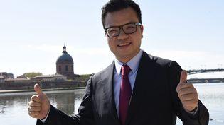 L'homme d'affaires chinois Mike Poon le 15 avril 2015 à Toulouse (Haute-Garonne). (MAXPPP)