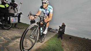 Tom Boonen lors de son 4e sacre sur Paris-Roubaix en 2012 (DAVID STOCKMAN / BELGA MAG)