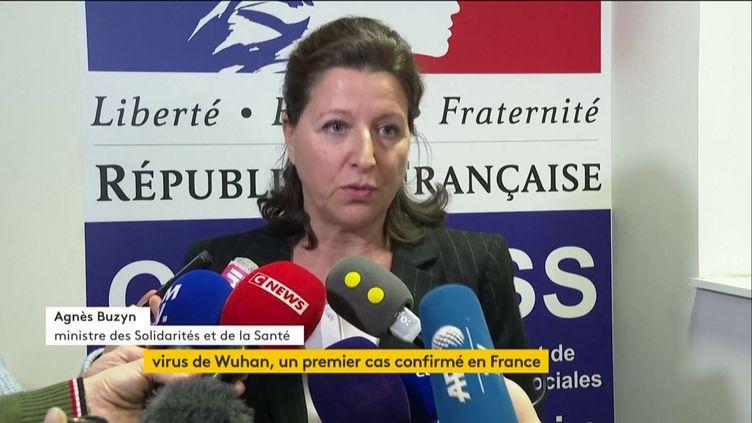 La ministre de la Santé, Agnès Buzyn, le 24 janvier 2020. (FRANCEINFO)