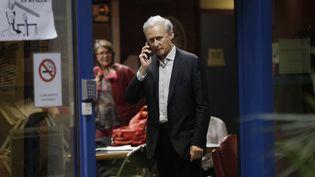 L'ex-secrétaire d'Etat, Georges Tron, au tribunal de Bobigny (Seine-Saint-Denis), le 15 novembre 2018. (GEOFFROY VAN DER HASSELT / AFP)