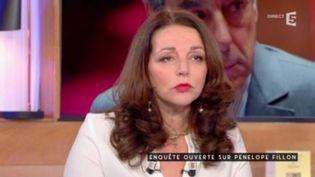 """Valérie Boyer, députée des Républicains des Bouches-du-Rhône,dans l'emission """"C à vous"""" de France 5, le 25 janvier 2017 (FRANCE 5)"""