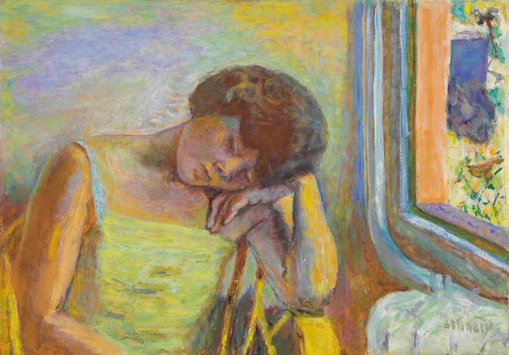 Pierre Bonnard,Femme endormie,vers 1928, huile sur toile, 50 x 71 cm  (Adagp, Paris 2014 )