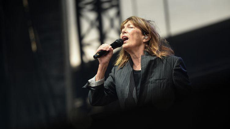Jane Birkin aux Francofolies de la Rochelle le 12 juillet 2021 (GAIZKA IROZ / AFP)