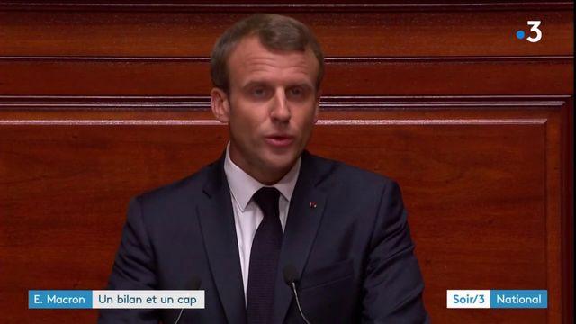 Devant le Congrès, Macron se veut ambitieux sur le plan social