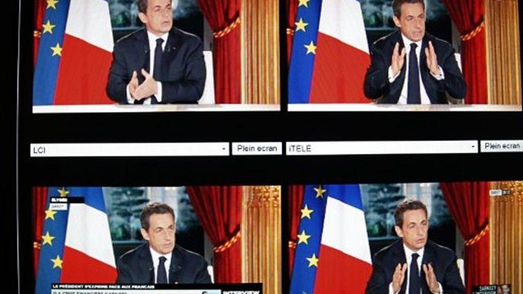 Sarkozy à la télévision (AFP)