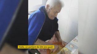 Un homme de 101 ans guéri. (FRANCEINFO)
