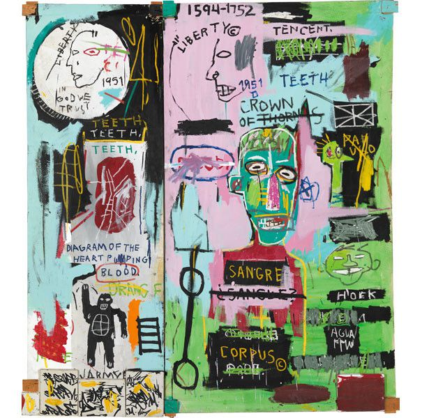 "Jean-Michel Basquiat, ""In Italian"", 1983, Courtesy The Brant Foundation, Greenwich, Connecticut, Etats-Unis  (Estate of Jean-Michel Basquiat. Licensed by Artestar, New York. Photo : © Robert McKeever)"