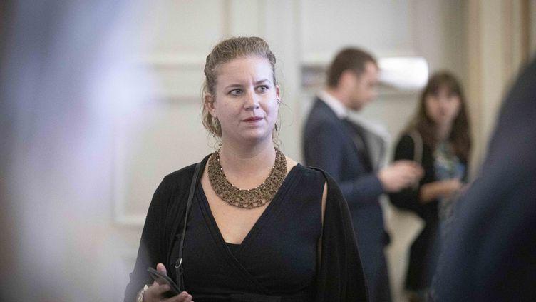 Mathilde Panot, députée LFI du Val-de-Marne, le 17 septembre 2019 à l'Assemblée nationale. (CHRISTOPHE MORIN / MAXPPP)