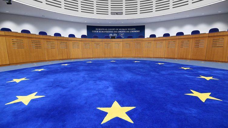 La Cour européenne des droits de l'homme, à Strasbourg (Bas-Rhin), le 7 février 2019. (FREDERICK FLORIN / AFP)