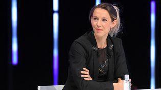Marie-Amélie Le Fur,présidente du comité paralympique, lors de la journée J-100 avant les Jeux olympiques de Tokyo, le 14 avril 2021, à Saint-Denis (Seine-Saint-Denis). (MILLEREAU PHILIPPE / KMSP / AFP)