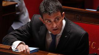 Le Premier ministre Manuel Valls pendant les questions au gouvernement, le 3 mai 2016. (FRANCOIS GUILLOT / AFP)