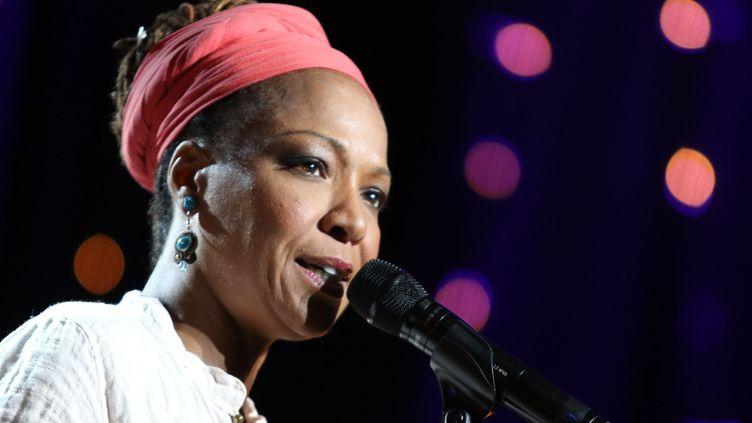 Vendredi 31 juillet : toute première fois pour Lisa Simone à Jazz in Marciac.  (Lapeyrere / Photopqr / La Dépêche du Midi)