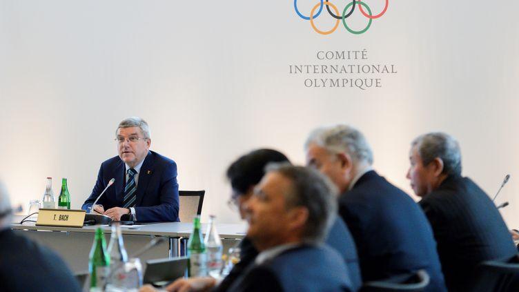 Thomas Bach préside le Comité international olympique (FABRICE COFFRINI / AFP)