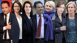 Les anciens ministres de François Hollande battus dès le premier tour des législatives : Benoît Hamon, Cécile Duflot, Aurélie Filippetti, Matthias Felk, Pascale Boistard, Juliette Méadel et Ségolène Neuville. (MAXPPP)