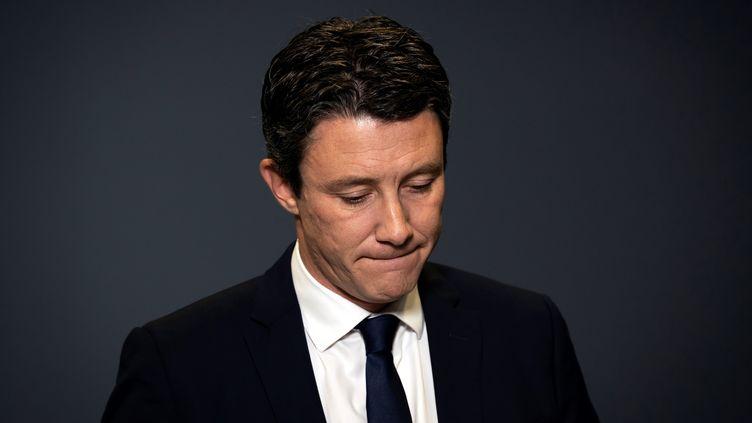Benjamin Griveaux, le 14 février 2020, au siège de l'AFP à Paris. (LIONEL BONAVENTURE / AFP)