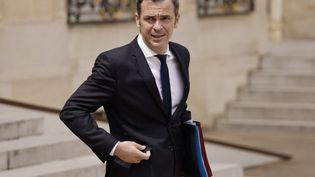 Le ministre de la Santé, Olivier Véran, le 7 juillet 2021, au palais de l'Elysée, à Paris. (LUDOVIC MARIN / AFP)